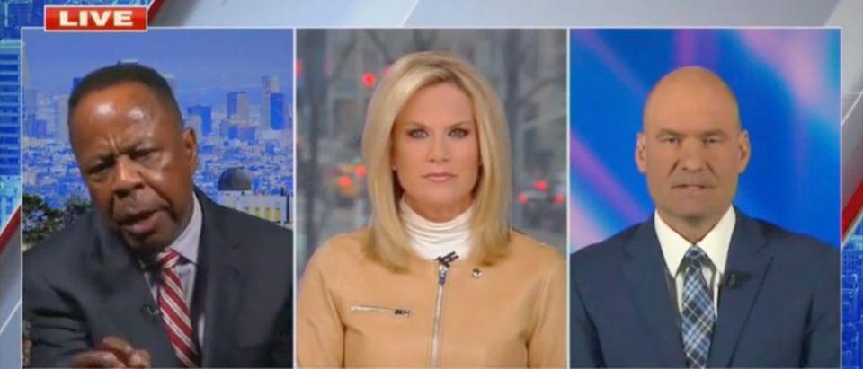 Leo Terrell, Martha MacCallum, and Chris Hahn (Screenshot/Fox News)