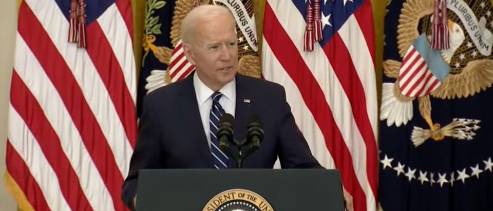 Joe Biden (screenshot, White House YouTube)