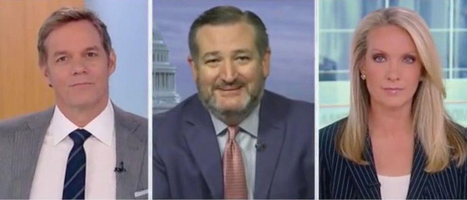 Bill Hemmer, Sen. Ted Cruz, and Dana Perino (Screenshot/Fox News)