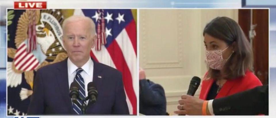 President Joe Biden answers questions from ABC's Cecilia Vega (Screenshot/Fox News)