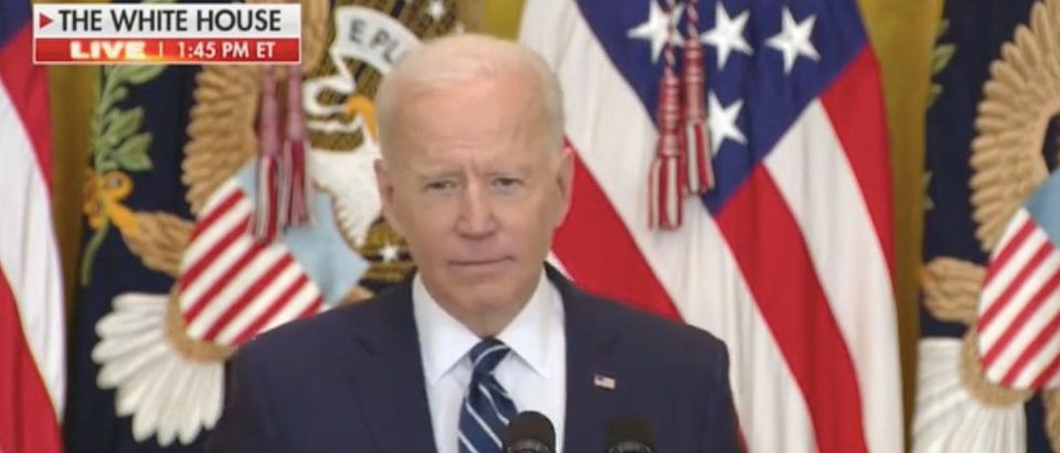 President Joe Biden gives press conference. Screenshot/Fox News