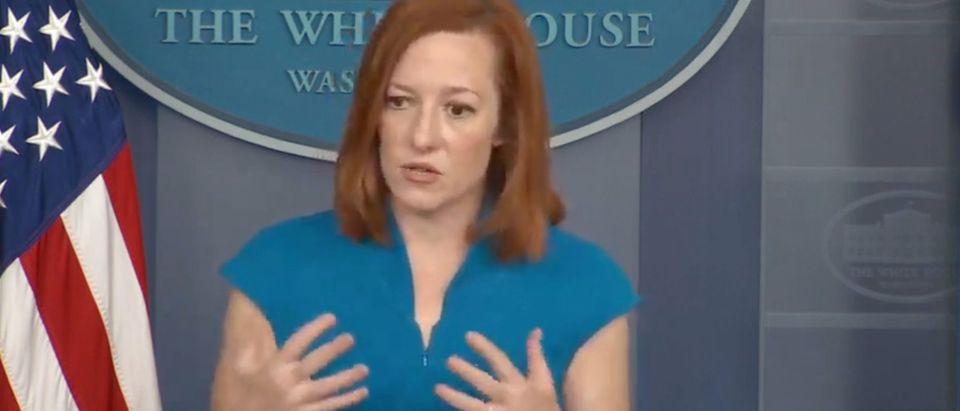 Jen Psaki (screenshot, White House YouTube)