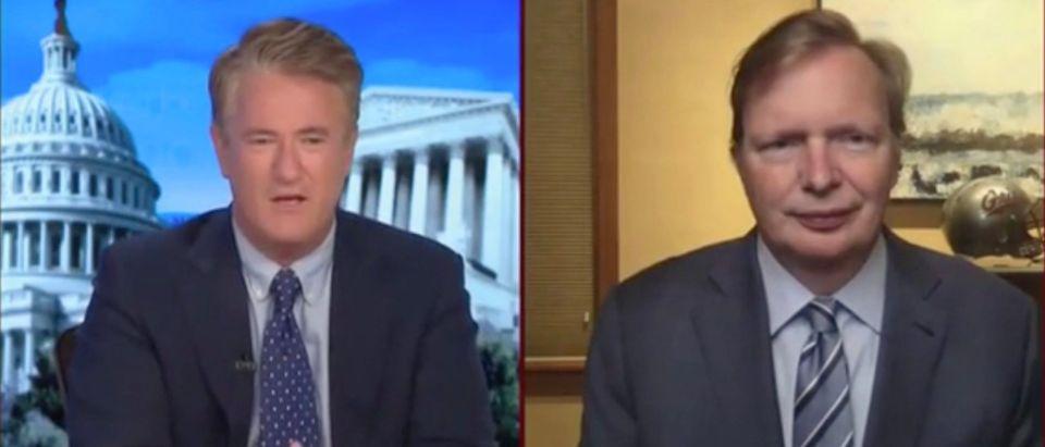 Joe Scarborough and Jim Messina (Screenshot/MSNBC)