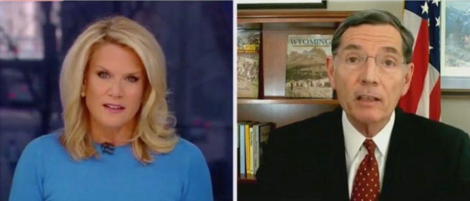 Martha MacCallum and Sen. John Barrasso (Screenshot/Fox News)
