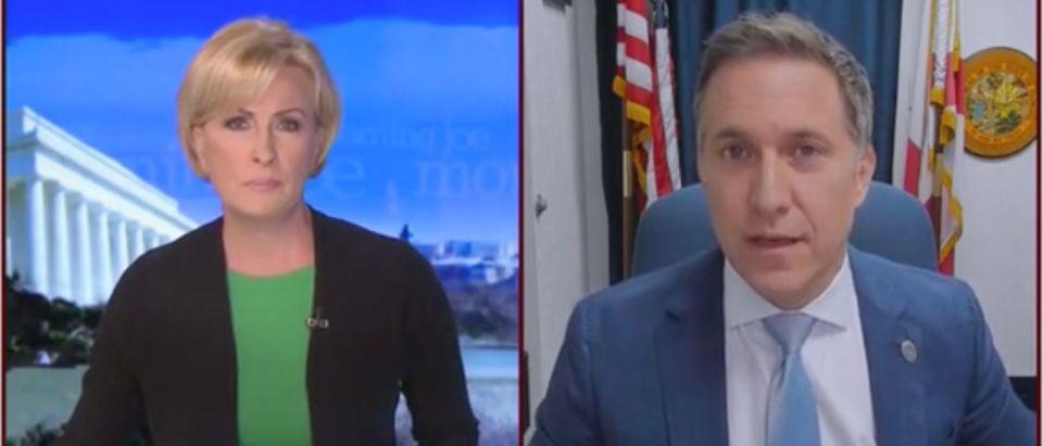 Mika Brzezinski and Dave Aronberg (Screenshot/MSNBC)