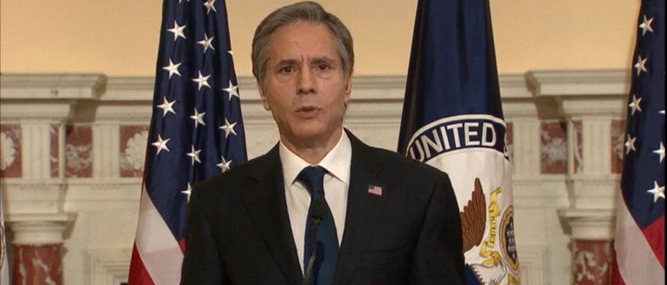 Secretary of State Tony Blinken. (Screenshot/YouTube/Department of State)