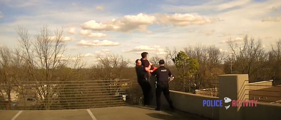 Stillwater Police Officers save a suicidal student [Youtube:Screenshot:Public User PoliceActivity]