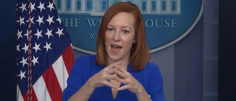 White House Press Secretary Jen Psaki. (Screenshot/YouTube/Fox Business)