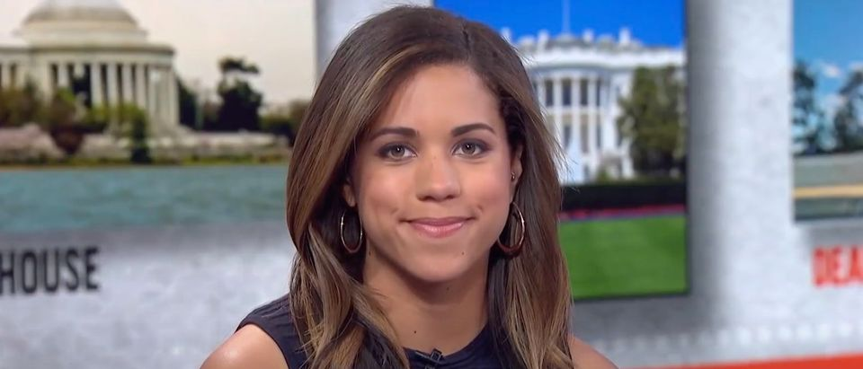 Teen Vogue staffers are pushing back on the hiring of former Axios reporter Alexi McCammond. (Screenshot YouTube MSNBC)