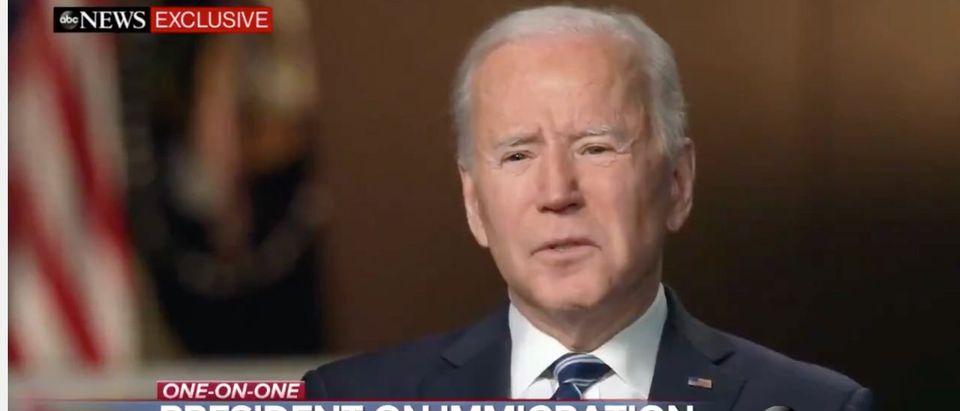President Joe Biden speaks on ABC News in an exclusive interview [Twitter/Screenshot/Public User: Evan McMurry]