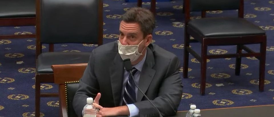 Outkick founder Clay Travis testifies before the House Judiciary Committee, March 12, 2021. (YouTube screen capture/House Judiciary Committee)