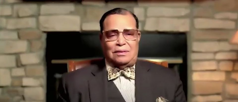 Louis Farrakhan, the leader of the Nation of Islam, speaks at Saviours' Day, Feb. 27, 2021. (YouTube screen capture/Abdul Qiyam Muhammad)