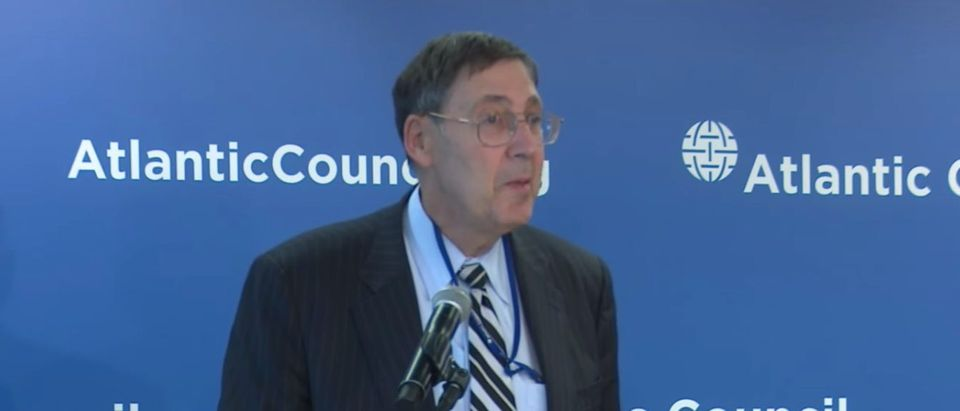 Former Amb. John Herbst speaks at event for The Atlantic Council, Nov. 1, 2017. (YouTube screen capture/Atlantic Council)