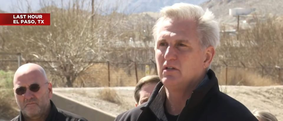 Kevin McCarthy speaks in El Paso on March 15, 2021. (Screenshot/YouTube)