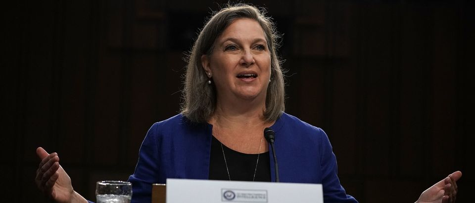 """WASHINGTON, DC - JUNE 20: Former Assistant Secretary of State for European and Eurasian Affairs Victoria Nuland testifies during a hearing before the Senate Intelligence Committee June 20, 2018 on Capitol Hill in Washington, DC. The committee held a hearing on """"Policy Response to Russian Interference in the 2016 U.S. Elections."""" (Photo by Alex Wong/Getty Images)"""