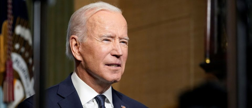U.S. President Joe Biden leaves delivers remarks on his plan to withdraw American troops from Afghanistan, at the White House, Washington, U.S., April 14, 2021. (Andrew Harnik/Pool via REUTERS)