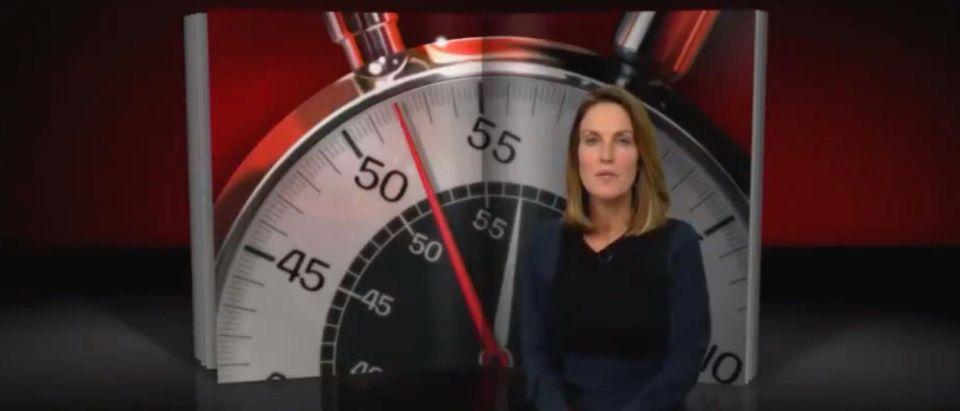 """60 Minutes"" read criticisms and praise regarding its reporting on Gov. Ron DeSantis. (Screenshot Twitter Brent Baker)"