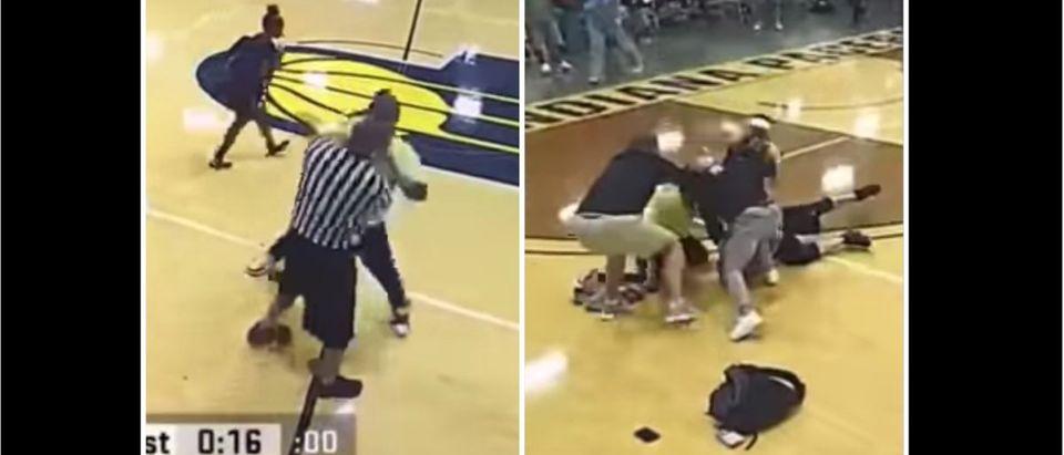 Basketball Brawl Ref (Credit: Screenshot/Facebook Video https://www.facebook.com/kandre.wells/videos/10224820979453245/)