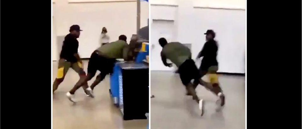 Fight Video (Credit: Screenshot/Twitter Video https://twitter.com/EatMahKandy/status/1378782121859420162)