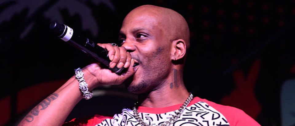 MIAMI BEACH, FL - DECEMBER 05: DMX performs on stage at The Dean Collection X BACARDI Untameable House Party - Day 3 on December 5, 2015 in Miami Beach, Florida. (Photo by Frazer Harrison/Getty Images for Bacardi)