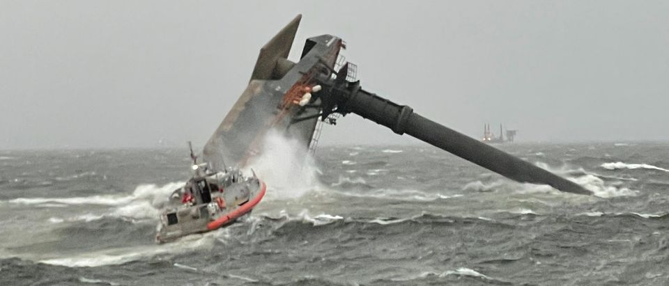 175-foot commercial lift boat capsized, while carrying 18 people on board