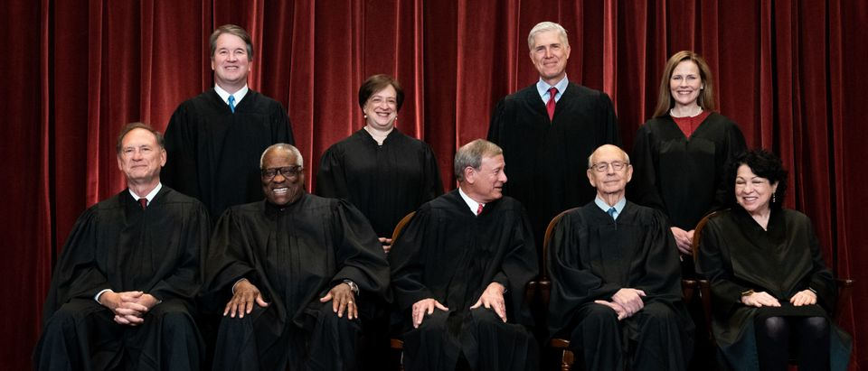 Supreme Court Justices Pose For Formal Group Photo