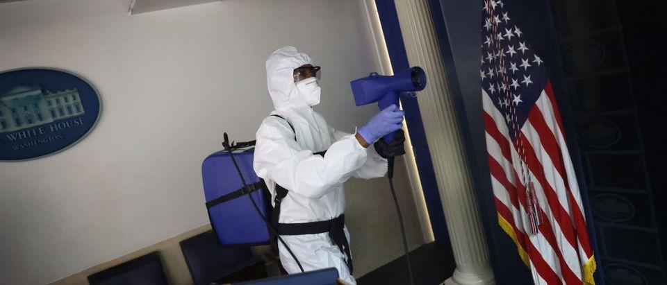 White House Staff Sanitize Press Area After Coronavirus Outbreak