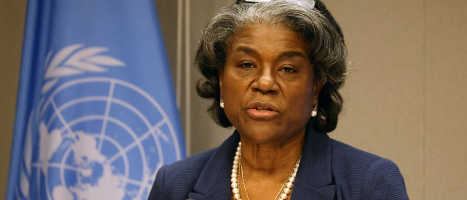 New Ambassador To The UN Linda Thomas-Greenfield Speaks To The Media