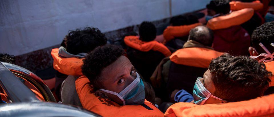 Migrants Rescued By NGO During Sea Crossing In Mediterranean