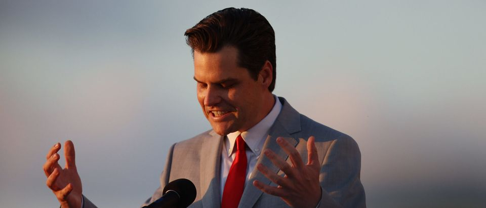 Embroiled Congressman Matt Gaetz Speaks At Women For America First Event In Florida
