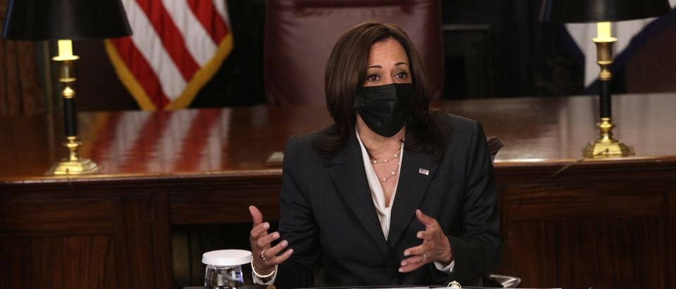 Vice President Harris Gives Opening Remarks At White House Meeting In Northern Triangle