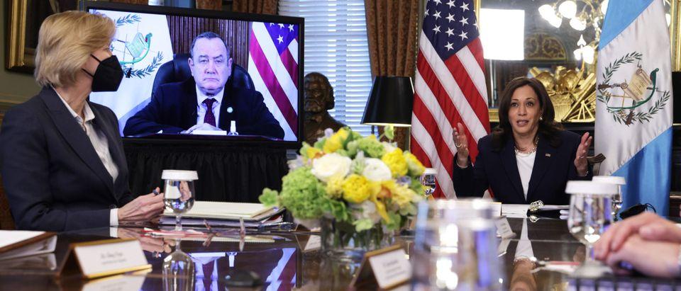Vice President Harris Meets Virtually With Guatemalan President Alejandro Giammattei