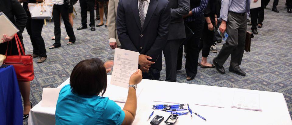 Job Fair Held In Midtown Manhattan
