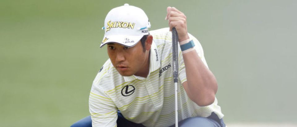 AUGUSTA, GEORGIA - APRIL 11: Hideki Matsuyama of Japan looks over a putt on the sixth green during the final round of the Masters at Augusta National Golf Club on April 11, 2021 in Augusta, Georgia. (Photo by Jared C. Tilton/Getty Images)