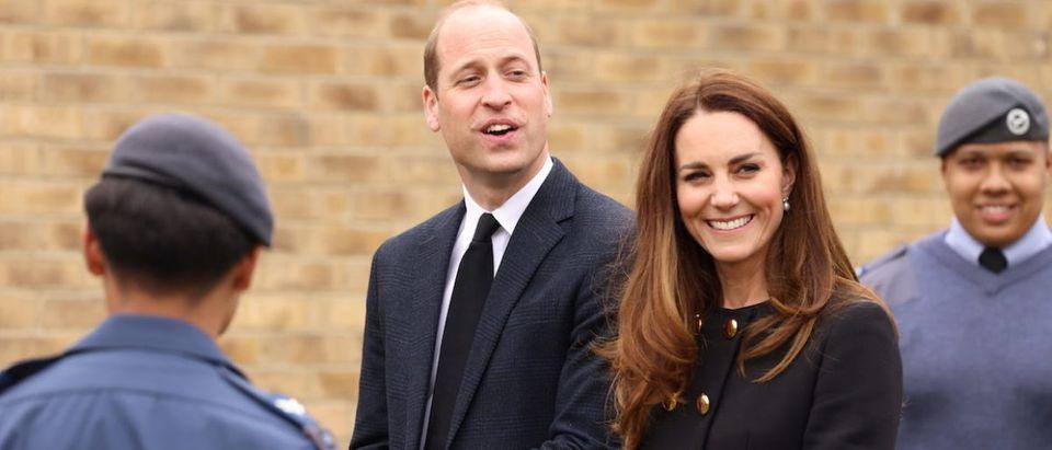 Britain's Prince William and Catherine, Duchess of Cambridge visit 282 East Ham Squadron, Cornwell VC Cadet Centre