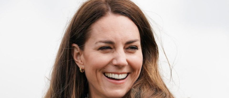 Britain's Prince William and Catherine, Duchess of Cambridge visit Little Stainton
