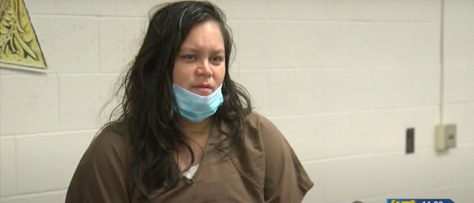 Liliana Carrillo confessed to killing her three children in an interview with KGET 17 [Youtube:Screenshot:KGET News]