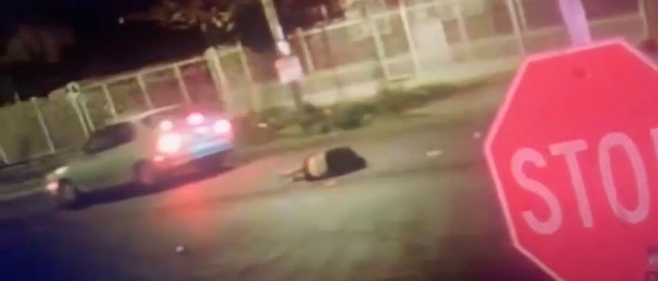 Los Angeles man killed after two separate cars hit him [Youtube:Screenshot:Public User Los Angeles Police Department]