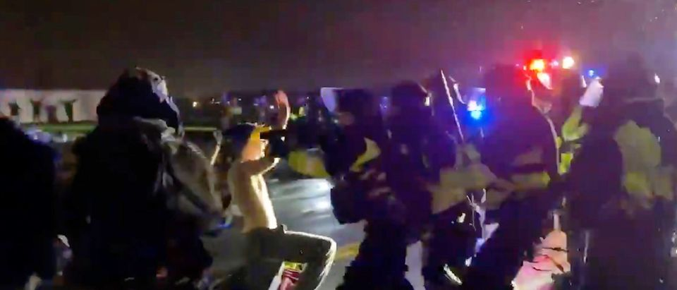 Protesters clash with police in Brooklyn Center