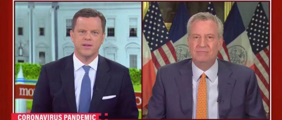 NYC Mayor (D) Bill De Blasio speaks on MSNBC's 'Morning Joe' [Screenshot:MSNBC]