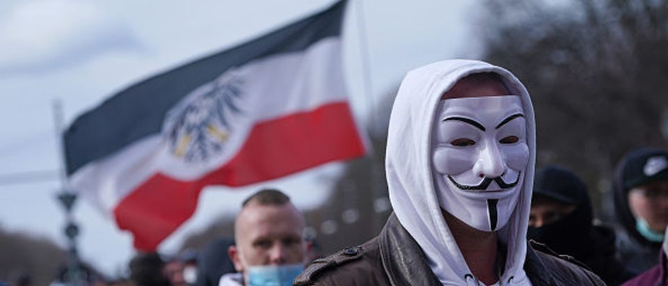Neo-nazis gather in Berlin (Photo by Sean Gallup:Getty Images)