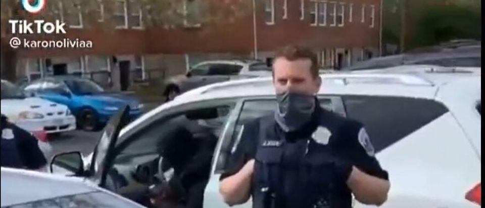 Officer Responds To Heckler