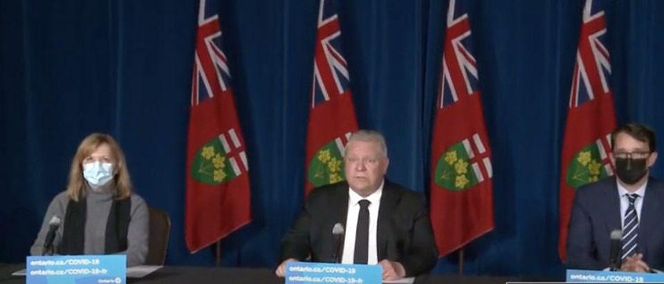 Ontario Premier Doug Ford speaks at press conference April 16
