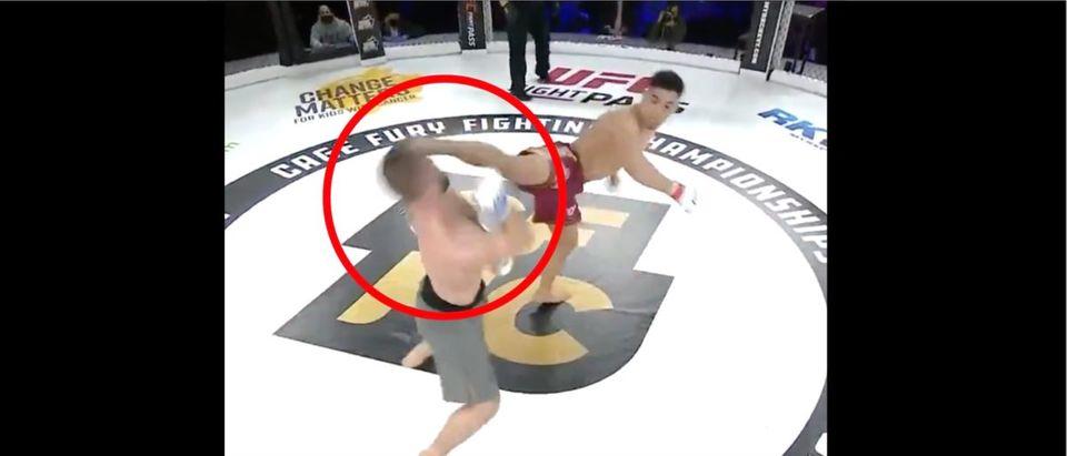Paul Capaldo (Credit: Screenshot/Twitter Video https://twitter.com/UFCFightPass/status/1378163880476737543)