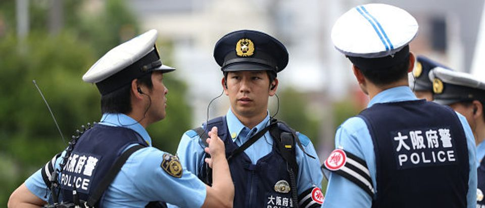 Police officers in Osaka, Japan (Photo by Takashi Aoyama. Getty Images)