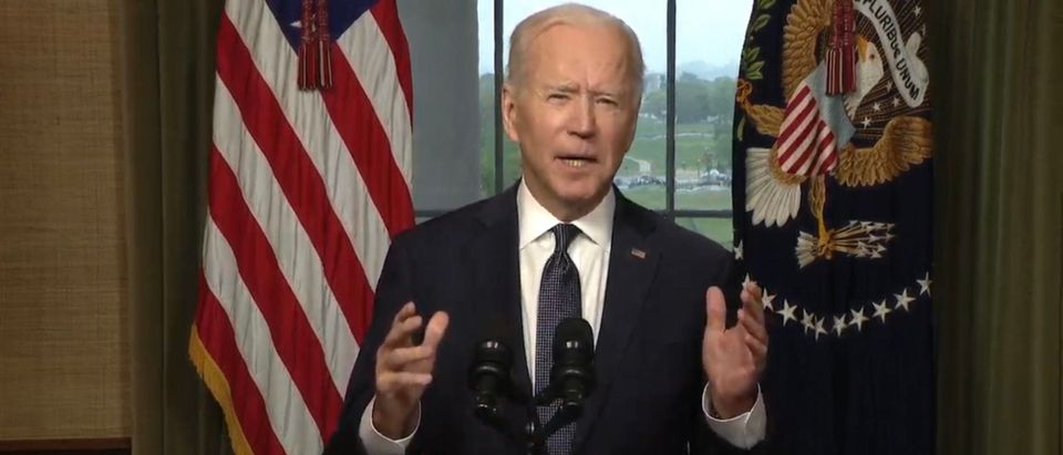 President Joe Biden. (Screenshot/Youtube/White House)