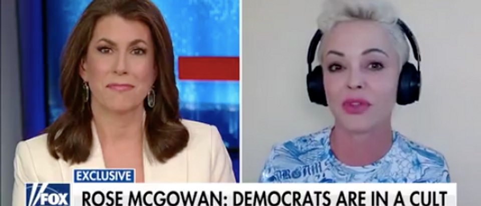 Rose McGowan appeared on Fox News on April 26