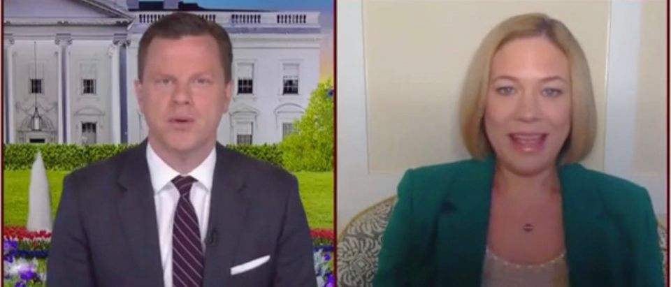 Willie Geist and Elise Jordan (Screenshot/MSNBC)