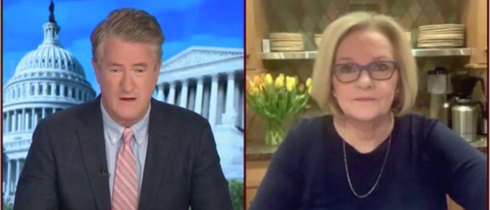 Joe Scarborough and Claire McCaskill (Screenshot/MSNBC)