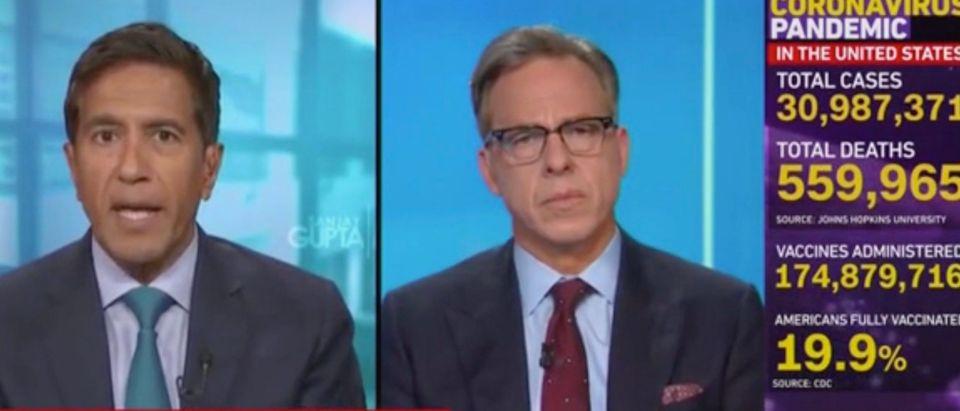 Sanjay Gupta and Jake Tapper (Screenshot/CNN)